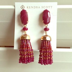 KENDRA SCOTT Dove Tassel Earrings